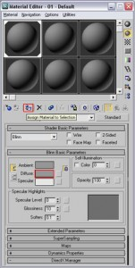 The material editor.