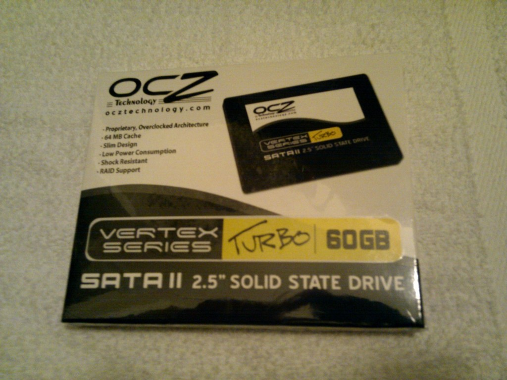 Unopened OCZ 60GB Solid State Drive Front