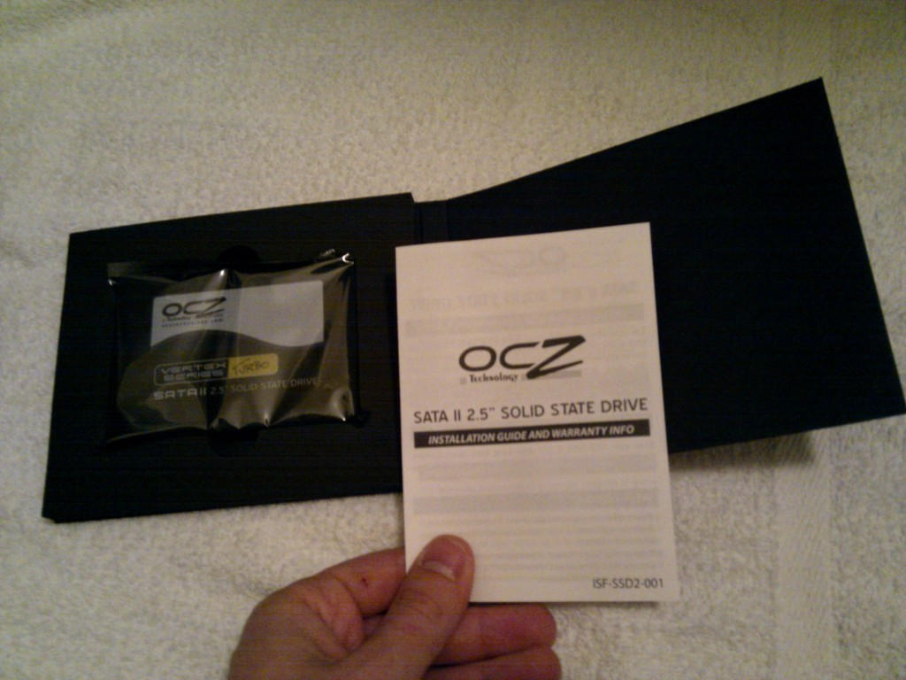 OCZ 60GB Vertex Turbo Instruction Manual