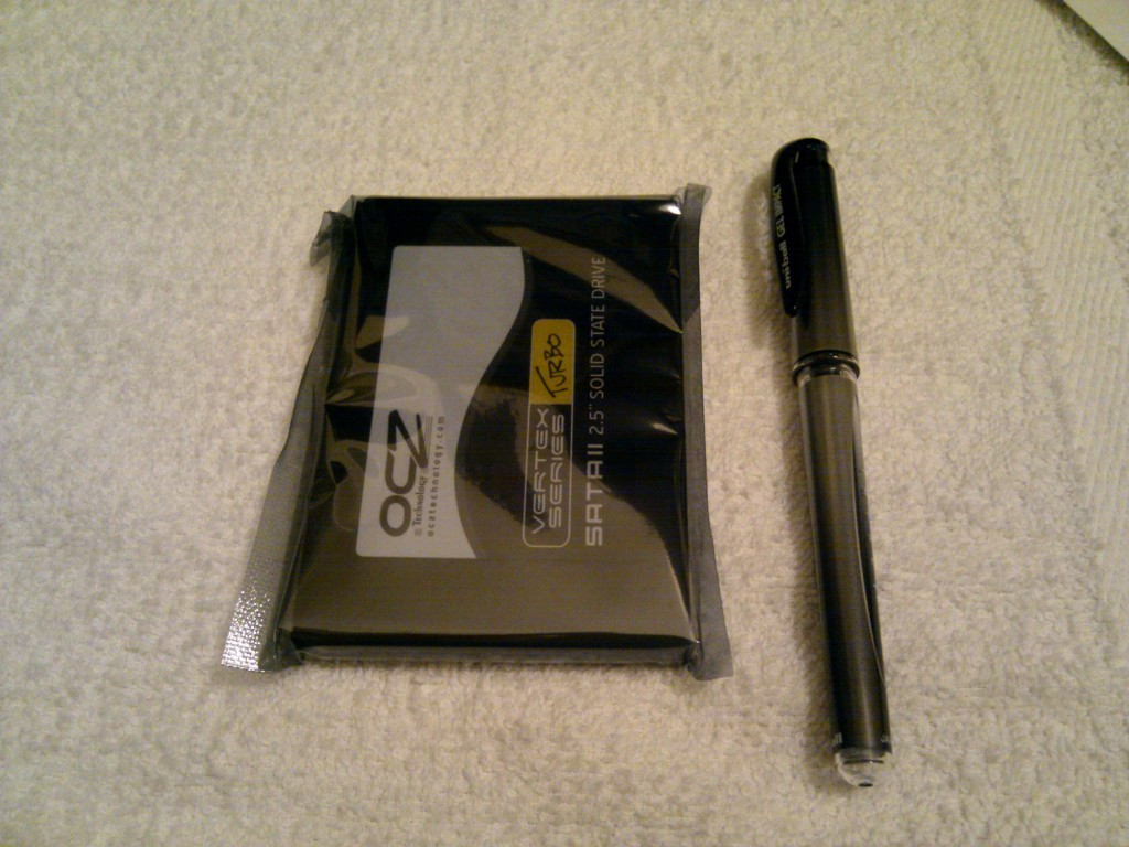 The OCZ Vertex Turbo 60GB Size Comparison